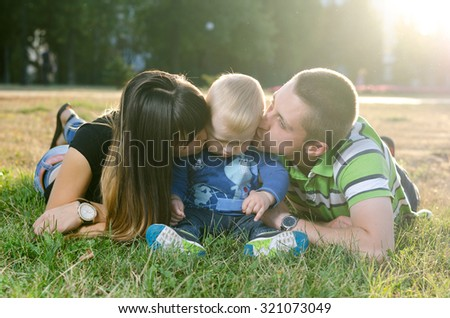 young family with a baby #321073049
