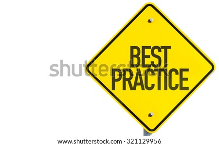 Best Practice sign isolated on white background