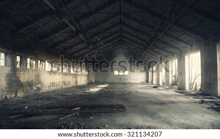 Abandoned building interior Royalty-Free Stock Photo #321134207