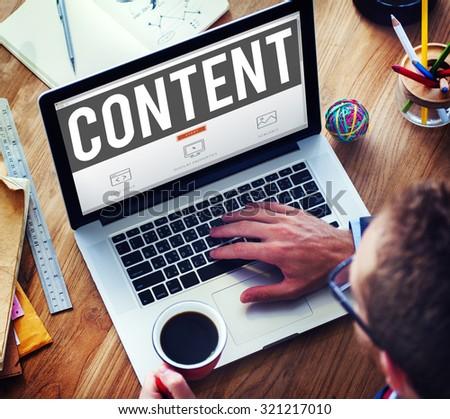Content Blogging Communication Publication Concept #321217010