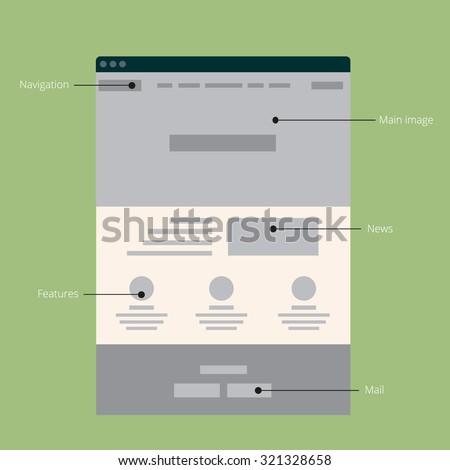 Vector flat web site template #321328658