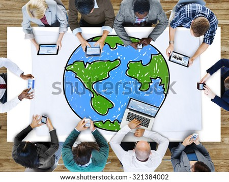 Global Networking Communication Economy Worldwide Concept #321384002