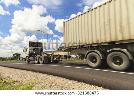 Truck on Highway #321388475