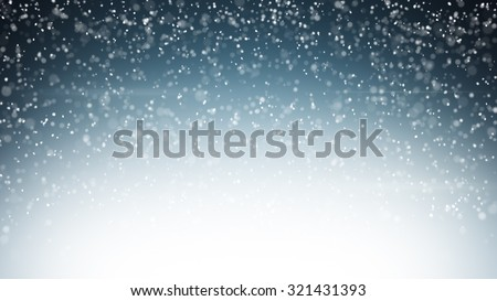 heavy snowfall. Computer generated christmas background