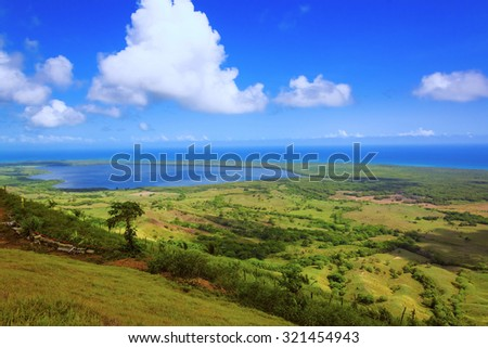 view from the top of the valley of the coast of the Atlantic Ocean #321454943