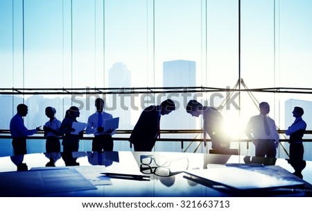 Business People Meeting Bowing Japanese Culture Concept #321663713
