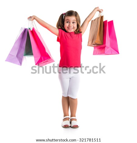 Girl with many shopping bags #321781511