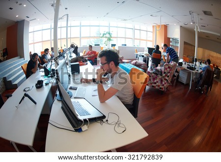 startup business people group working everyday job  at modern office Royalty-Free Stock Photo #321792839