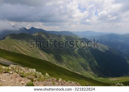 Mountain landscape in Romania #321822824