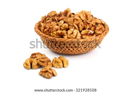 Walnut kernels isolated on white #321928508