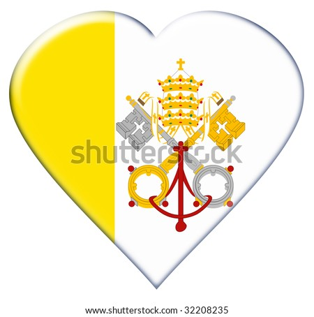 Icon of Vatican City flag. Illustration on white background