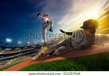 Professional baseball players on the grand arena #322287068