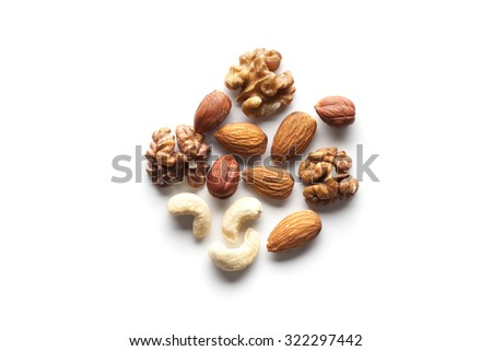 Assorted mixed nuts Royalty-Free Stock Photo #322297442