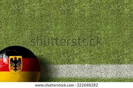 Germany Ball in a Soccer field #322688282