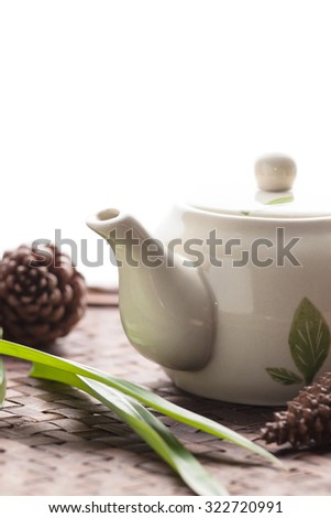Teapot for tea isolated on white background. #322720991