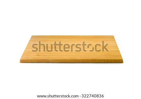wooden cutting board isolated over the white background #322740836