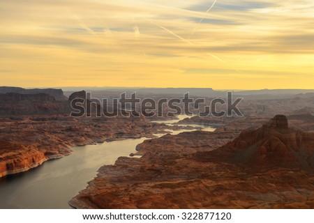 Grand Canyon from the plane, Arizona, USA. Grand Canyon national park #322877120