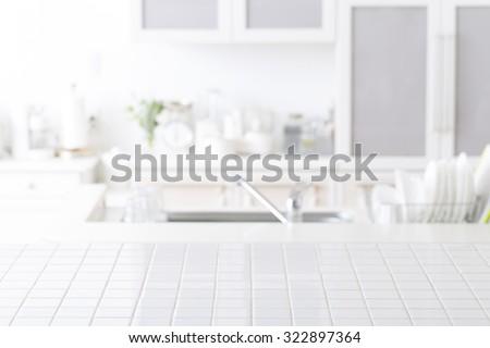 Background of kitchen Royalty-Free Stock Photo #322897364