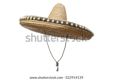 Sombrero Hat isolated on a white background. #322954139