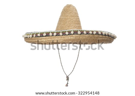 Sombrero Hat isolated on a white background. #322954148