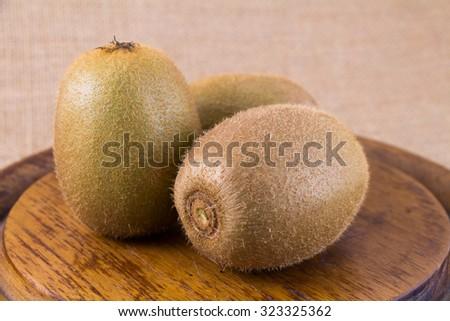 Fresh Kiwi fruit  in studio Shooting #323325362