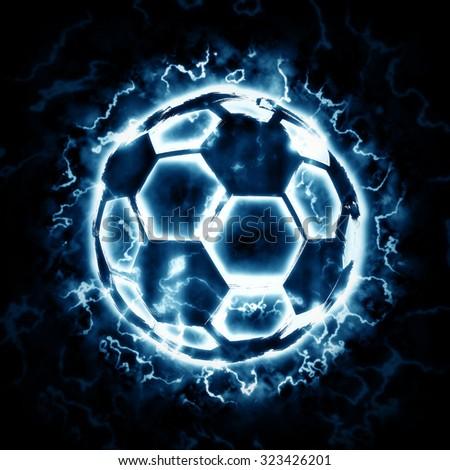 Lighting soccer ball