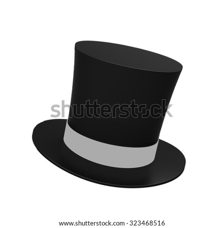 Black magic hat isolated on a white background #323468516