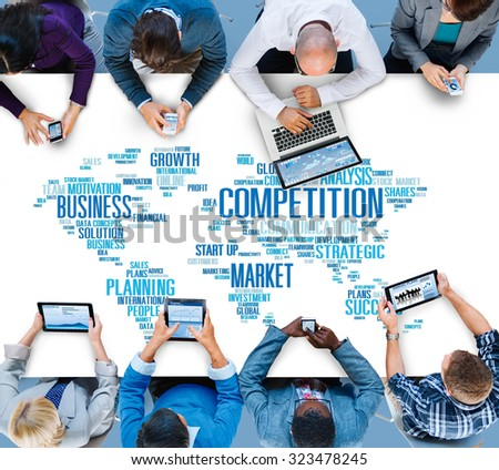 Global Competition Business Marketing Planning Concept #323478245