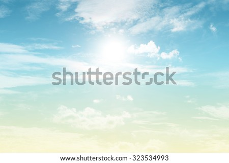 sun and cloud background with a pastel colored gradient.