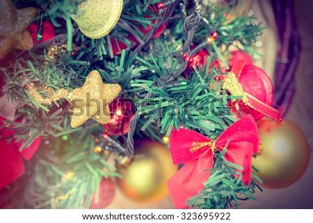 Christmas decoration - Christmas tree #323695922