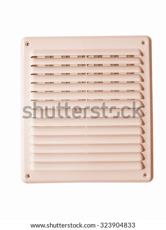 Vintage looking External wall ventilation grill for home safety #323904833