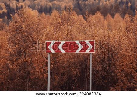 Autumn road landscape #324083384