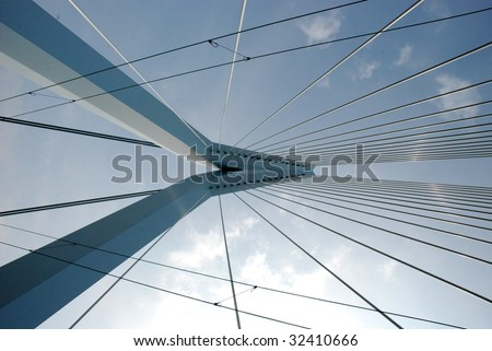 Abstract picture of the erasmusbridge #32410666