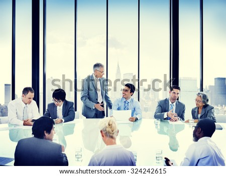 Business People Meeting Discussion Corporate Concept #324242615