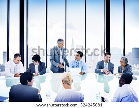 Business People Meeting Discussion Corporate Concept #324245081