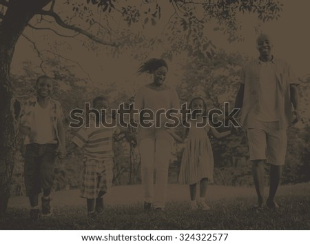 African Family Happiness Holiday Vacation Activity Concept #324322577