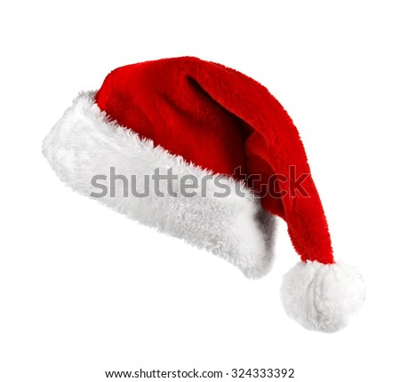 Santa Claus red hat on the white background  #324333392