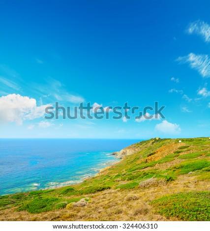 green coastline in Sardinia, Italy #324406310