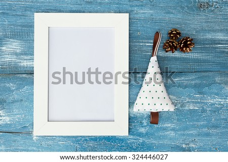 Poster mock up template for Christmas holiday