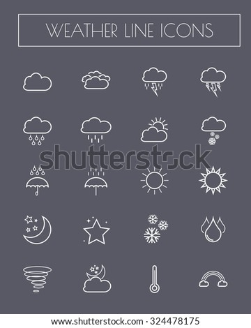 Weather line icons set.vector. #324478175