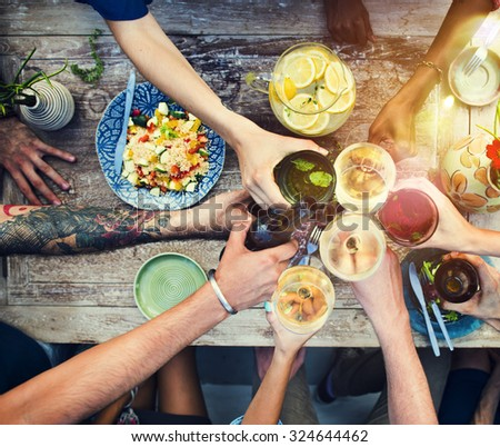 Food Table Healthy Delicious Organic Meal Concept #324644462