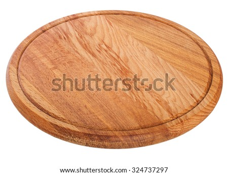 round cutting board isolated on white  #324737297