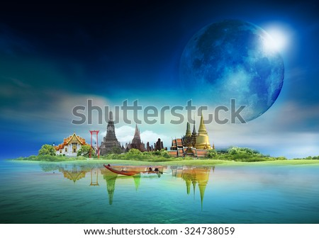 "bangkok travel, concept ""Elements of this image furnished by NASA"" #324738059"