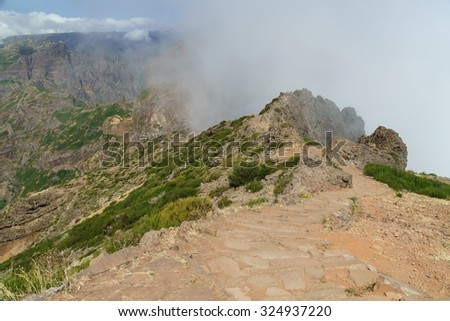 Foggy sunrise at Pico de Aireiro #324937220