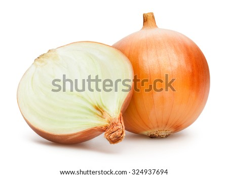 onions isolated Royalty-Free Stock Photo #324937694