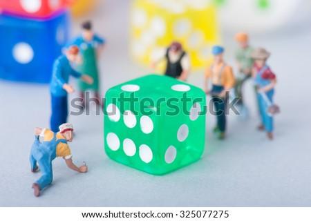 Colorful dice #325077275