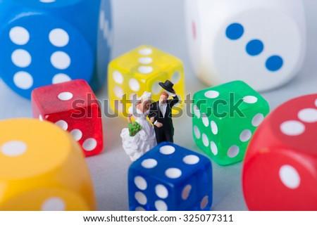 Colorful dice #325077311