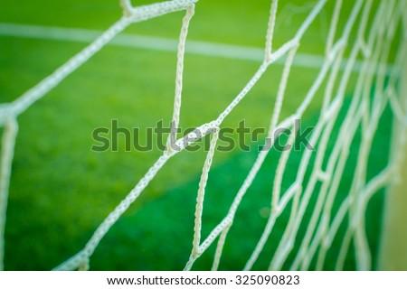 Nets of a soccer field #325090823