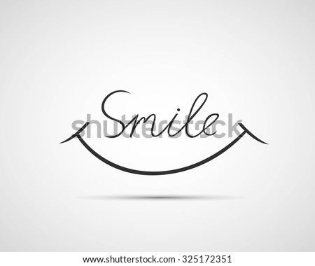Smile font design, vector illustration, graphic, background Royalty-Free Stock Photo #325172351