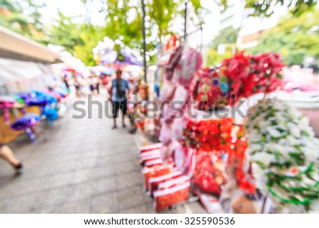 Abstract flower shop graduation and picture blur #325590536